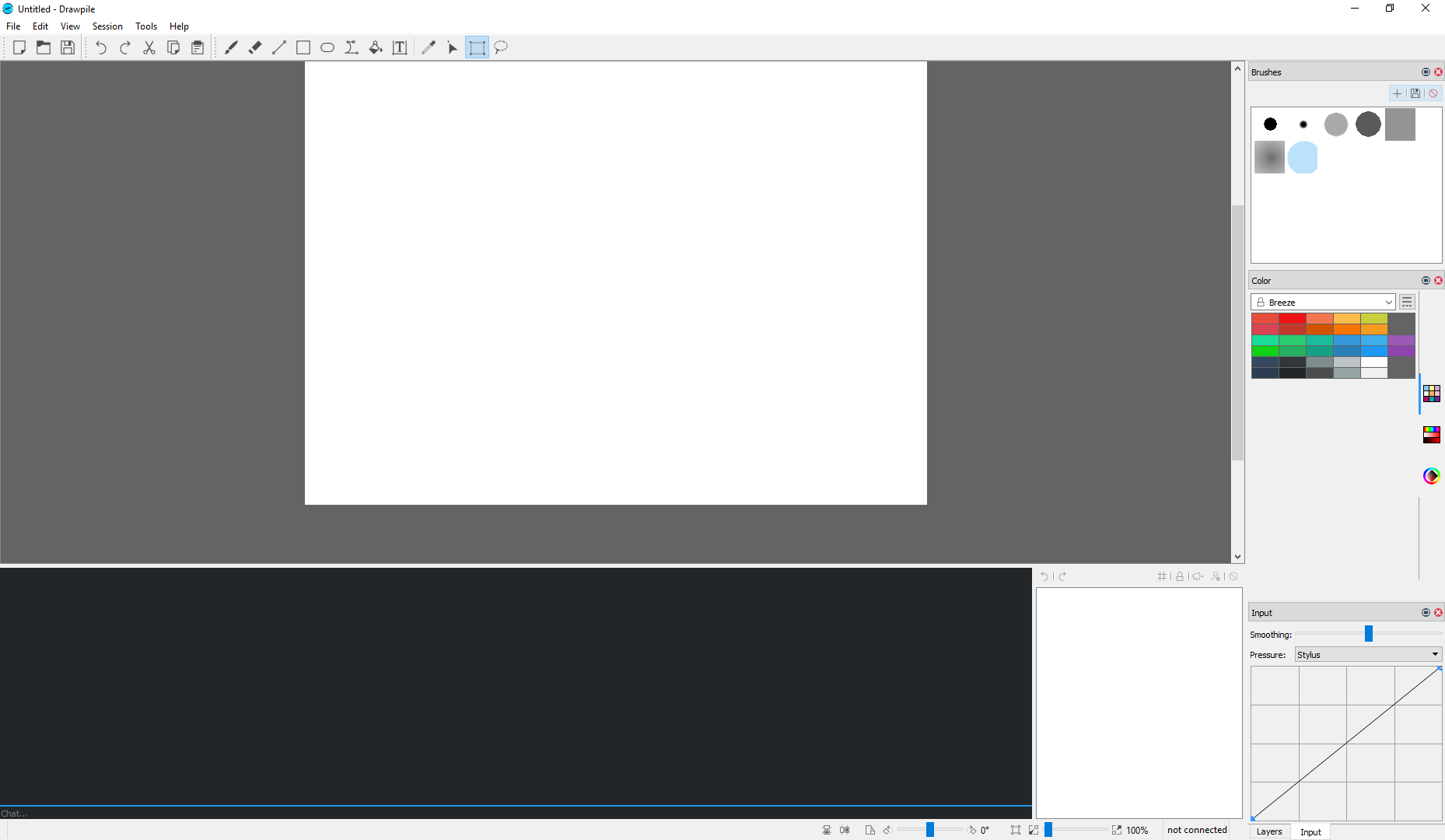 A blank Drawpile window